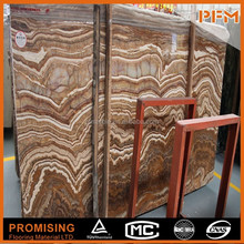 indoor flooring and backlit backfround wall covering decorative slab Import Turkey Tiger Onyx marble tiles