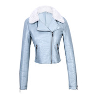 Promotion cheap cool pu jackets for women
