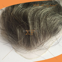 Quality guaranteed gray hair indian remy human hair toupee / wig for men