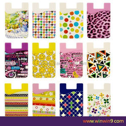 Cell phone sticker card holder 3M sticker adhesive name card holder