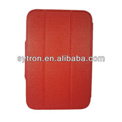 Red elegant 7 inch Leather Tablet Case For Ipad Case with stand fuction