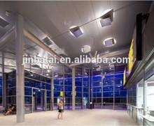 estación de autobuses de dibujo de alambre de acero inoxidable de la pared del techo que se fijan