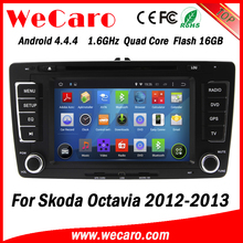 Wecaro Android 4.4.4 WC-SO7699 wifi 3g touch screen car multimedia system 2 din car dvd gps for skoda octavia 2012 2013
