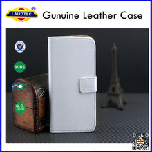 2014 Brand New!!!For LG L35 Luxury Genuine Leather Wallet Flip Case Back Cover Mobile Phone Accessories Made in China Laudtec