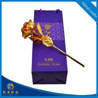 valentine's day and wedding gifts 24k gold foil rose with packing