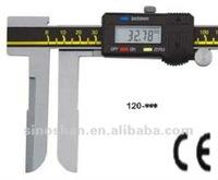 "120-350 22-500mm/0.88-20"" New Type LCD Reading Metric/Inch system Long Jaw Internal Diameter Digital Vernier Calipers"