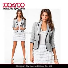 Moderno mejor venta 2015 nueva moda mujer traje chaqueta