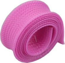 pink protective cable sleeve for wires and cables protecting