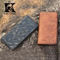 SK-8043 men natural leather wallet handmade wallet wholesale