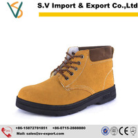 Genuine Leather mining safety shoes with CE certification