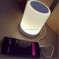 2015 newest smart led light bluetooth manual super bass portable mini speaker