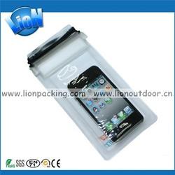 transparent pvc waterproof mobile phone bag