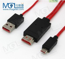 Hot!!! MHL Cable - Micro HDMI to MHL Cable For HDTV For Samsung Galaxy HDMI Cable Adapter Note 2 Note II S3 MHL