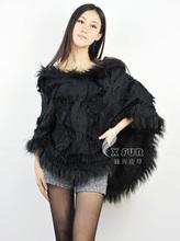 De punto cx-b-104d& conejo de piel de mapache suéters campana