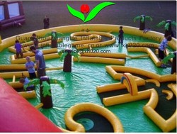 inflatable outdoor game crazy 9 hole inflatable golf course