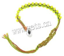 Jade, with Leather & Cotton Cord bracelet