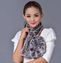 fashion faux fur scarf /collar 2012/fashion winter animal hat/knit rex rabbit fur scarf