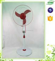 pedestal stand fan hot selling 16 inch plastic grill guard stand fan with led light