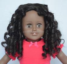 long curly black doll wigs kanekalon fiber wig/wig for mini dolls/pullip doll wigs