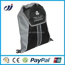 Promo Custom Polyester Draw String Bag / Gym Cinch Bag/fancy gym bag