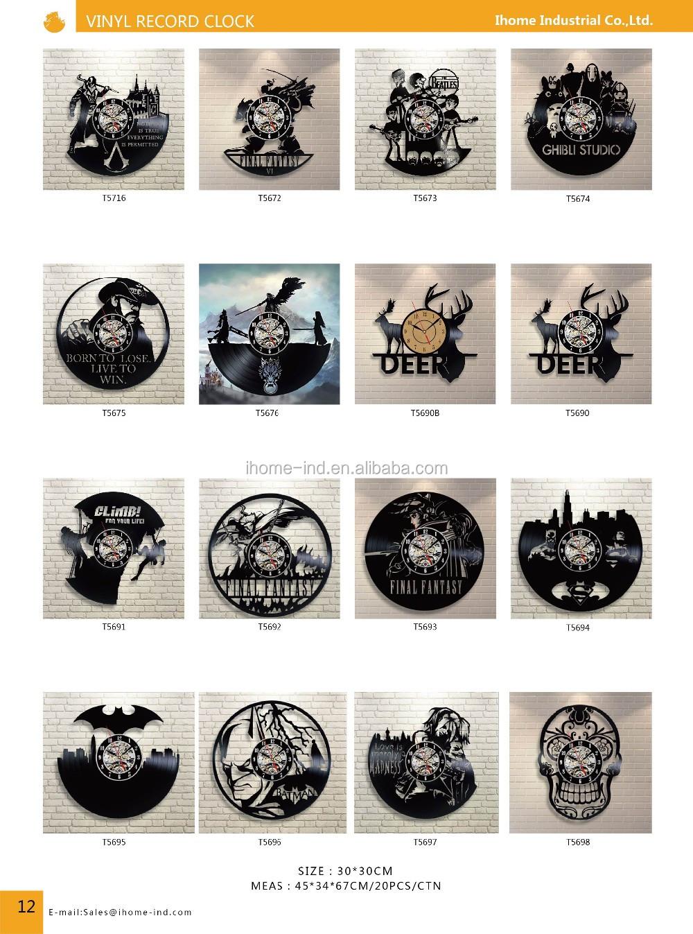 mur mont horloge chien conception disque vinyle horloge corgi horloge murale t5722 horloge. Black Bedroom Furniture Sets. Home Design Ideas