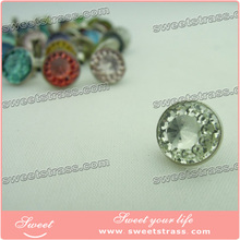 Wholesale glass color rhinestone rivet jeans accessories