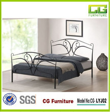 Home Furniture Wrought Iron Double Decker Metal Bed Latest Metal Bed Designs
