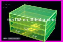 Crystal acrylic makeup display Drawer Cosmestic Storage