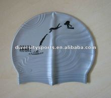 Solid Color Bubble Silicone Swimming Cap -Pink