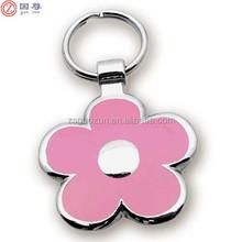 New and Fashion Design Flower Shape Metal Keychain Zinc Alloy Jewelry Key chain on Wholesale