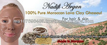 Moroccan Lava Clay Ghassoul Rhassoul for face mask, hair and skin
