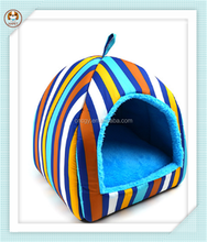 New arrival canvas stripe dual dog pet house
