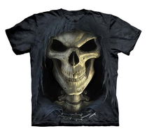 100% Cotton Big Face Death 3D T-Shirt