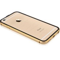 Aluminum Metal Frame & Clear Transparent PC Back Plane Cover Case for iPhone 6s /6 4.7 inch