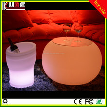 Small Round LED Coffee Table for Garden Coffee Shop Hotel and Night Club Decor Furniture