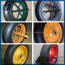 manufacture cheap 13'' inch 14 '' inch wheelbarrow solid rubber wheel