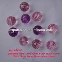 clear earth acrylic beads