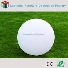 Die80CM waterproof built-in rechargeable Li-battery plastic PE LED ball for garden/swimming pool /wedding decor