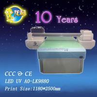 LED UV A0-LK9880 multicolor printer /candle printer wtin rotating system /glass printer