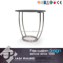 Tempered glass high quality brass coffee table