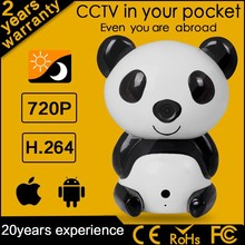 Fujikam 720P HD Night Vision Panda Baby Camera WiFi P2P Ptz Home CCTV Kit Camaras De Seguridad