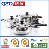 Stainless steel Cooking pot Fry Pan Cookware set CW01