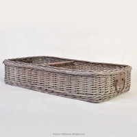 hot sell cheap wicker serving storage tray with handle