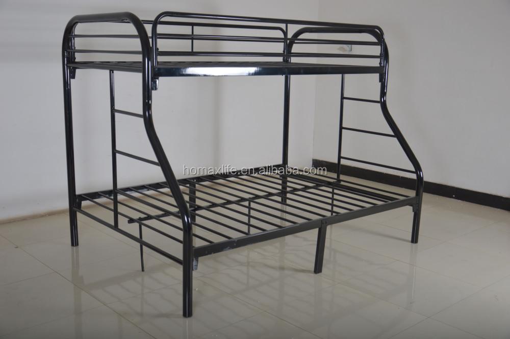 Gemelos adultos sobre completo de metal blanco frame litera cama ...