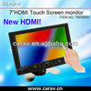 New panel for cars 7 inch led hdmi touchscreen monitor