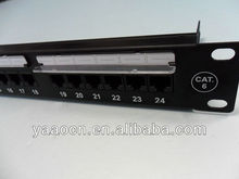 "1U 19"" amp Cat6 24 port rack mount patch panel"
