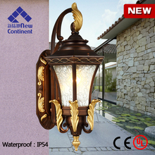 European style outdoor light aluminum waterproof IP54 high quality outdoor wall light with CE and UL