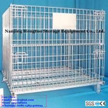 Warehouse Galvanized Welded Wire Mesh Storage Cage with Heavy Duty