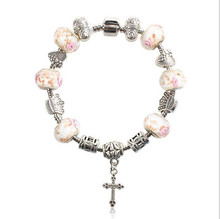 Vintage Charm Bracelets & Bangles for Women With Murano Glass Beads Gold Charm DIY Birthday Gift