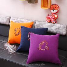 soft elegant plain square custom print pillow, outdoor decorative throw travel pillows